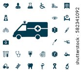 ambulance icon vector  medical... | Shutterstock .eps vector #582341092