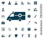 ambulance icon vector  medical... | Shutterstock .eps vector #582341092