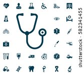 stethoscope web icon  medical... | Shutterstock .eps vector #582341455