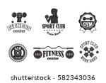 gym sport club fitness emblem... | Shutterstock .eps vector #582343036