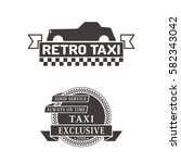 taxi badge car service business ... | Shutterstock .eps vector #582343042