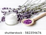 organic cosmetics with lavender ... | Shutterstock . vector #582354676