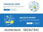 doodle web banners vector... | Shutterstock .eps vector #582367342