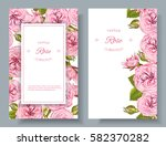 vector rose natural cosmetic... | Shutterstock .eps vector #582370282