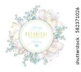 vector spring round flower... | Shutterstock .eps vector #582371026