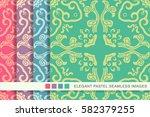 elegant seamless pastel... | Shutterstock .eps vector #582379255