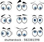 cartoon eyes in vector | Shutterstock .eps vector #582381598