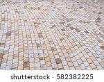 duotone yellow and gray brick... | Shutterstock . vector #582382225