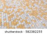 duotone yellow and gray brick... | Shutterstock . vector #582382255