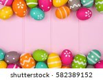 colorful easter egg double... | Shutterstock . vector #582389152