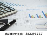 business report financial... | Shutterstock . vector #582398182