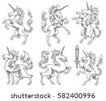 vector set of images of... | Shutterstock .eps vector #582400996