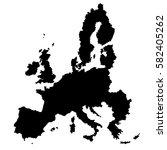 eu map vector. | Shutterstock .eps vector #582405262