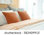 lively style bedding  orange...   Shutterstock . vector #582409915