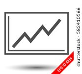 graph icon. growing line on... | Shutterstock .eps vector #582410566