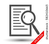 magnifying glass over document... | Shutterstock .eps vector #582410665
