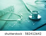 medical examination and... | Shutterstock . vector #582412642