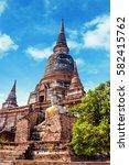 old pagoda at thailand | Shutterstock . vector #582415762