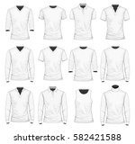 collection of men's clothes. t... | Shutterstock .eps vector #582421588
