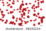 red diamonds isolated on white. ... | Shutterstock . vector #58242214