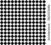 black and white checkered... | Shutterstock .eps vector #582425686