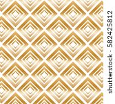 gold modern pattern with... | Shutterstock . vector #582425812