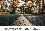 yellow line rough surface and... | Shutterstock . vector #582428692