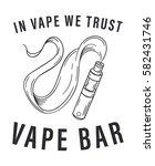 vape bar logo with a smoking... | Shutterstock .eps vector #582431746