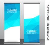 roll up banner stand template... | Shutterstock .eps vector #582433192