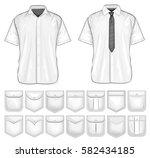 shirt pockets design. vector...   Shutterstock .eps vector #582434185