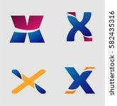 letter x logo    Shutterstock .eps vector #582435316