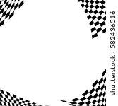 checkered flag. racing flag... | Shutterstock .eps vector #582436516