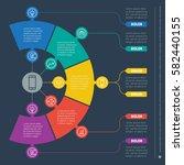 business presentation concept... | Shutterstock .eps vector #582440155