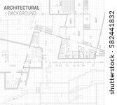 blueprint. architectural... | Shutterstock .eps vector #582441832
