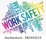 work safety word cloud collage... | Shutterstock .eps vector #582443215