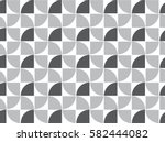 repeating quarter circle... | Shutterstock .eps vector #582444082