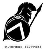 spartan sign. | Shutterstock .eps vector #582444865