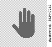 stop hand vector icon on... | Shutterstock .eps vector #582447262