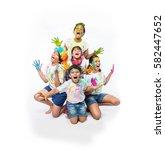 5 Indian Small Kids Friends - Fine Art prints