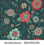 seamless pattern with hand... | Shutterstock .eps vector #582450256