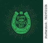 st. patrick's day. retro style... | Shutterstock .eps vector #582453106