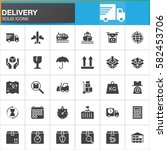 delivery and logistics vector... | Shutterstock .eps vector #582453706