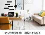 comfortable workplace in office | Shutterstock . vector #582454216