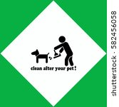clean after pet  icon vector...