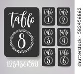 table number card collection... | Shutterstock .eps vector #582456862