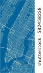 blue and white vector city map... | Shutterstock .eps vector #582458338