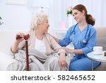 nurse talking with elderly