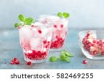 infused pomegranate water with... | Shutterstock . vector #582469255