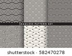 collection of seamless... | Shutterstock .eps vector #582470278