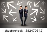 young conflicted businessman... | Shutterstock . vector #582470542